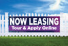 3' x 10' Now Leasing Online - Sapphire Skies Banner