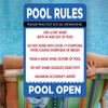 "Covid Pool Rules-12"" x 18""  Aluminum Sign"