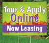 """Tour & Apply Online -18""""x24"""" Sign-Autumn's Bright Colors"""