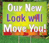 """Our New Look  -18""""x24"""" Sign-Autumn's Bright Colors"""