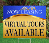 """Virtual Tours Available 18""""x24"""" Sign- Goldness Gracious (Blue)"""