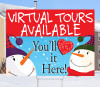 Happy Snowmen Virtual Tours Available 18x24 Sign