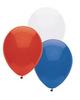 "12"" Patriotic Latex Balloon Assortment"