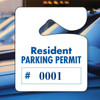 Numbered Heavy Duty Stock Parking Permit Blue