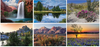 Scenes Across America Stapled Wall Calendar