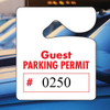 Heavy Duty Numbered Guest Parking Permit