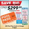 Pool Pass Cards + Signs Bundle