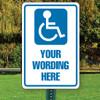 """Handicap Parking Semi Custom 12"""" x 18"""" Aluminum Sign"""