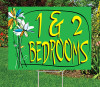 """1 & 2 Bedrooms- 18""""x24"""" Sign- Watercolor Floral  Theme"""