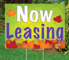 Autumn's Bright Colors Now Leasing Sign