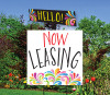 Splash Top Spin Sign: Now Leasing