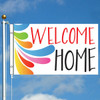 3' x 5' Splash Welcome Home Flag