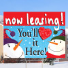 "You'll Love it Here- 18""x24"" Sign- Happy Snowmen Theme"
