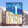 """Welcome Home-18""""x24"""" Sign- Winter Wonderland Theme"""