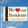 3' x 5' Goldy Looks We Love Our Residents Flag