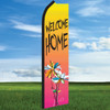 Watercolor Floral: Welcome Home- Windleaser Classic Flag Only