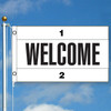 3' x 5' Custom Color Message Flag - Welcome