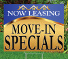 "Move-In Specials- 18""x24"" Sign- Goldness Gracious (Blue)"