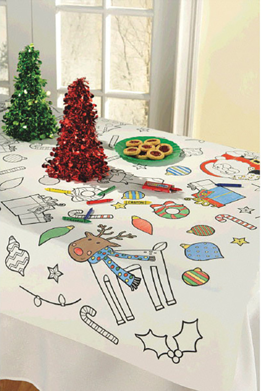 Holiday Color-In Table Cover