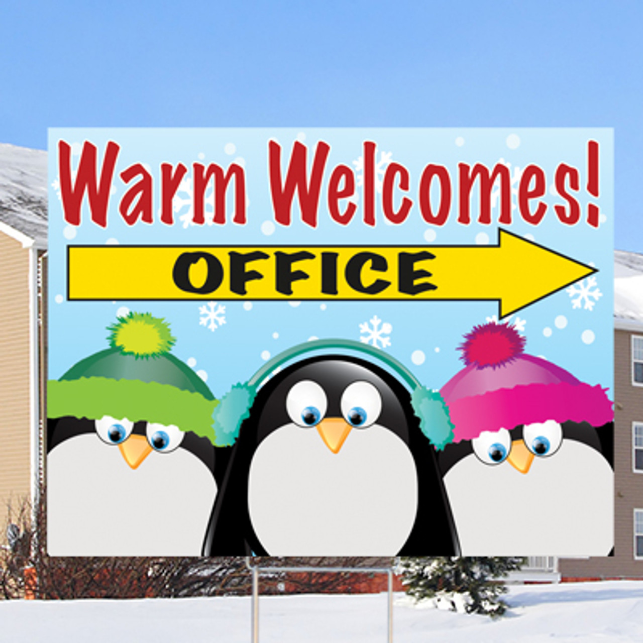 """WARM WELCOMES- OFFICE - 18"""" X 24"""" Sign- Chillin' Theme"""