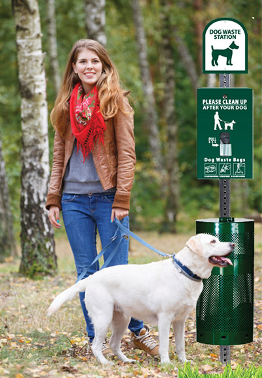 The Sentry® Dog Waste Station with SinglPul Bags
