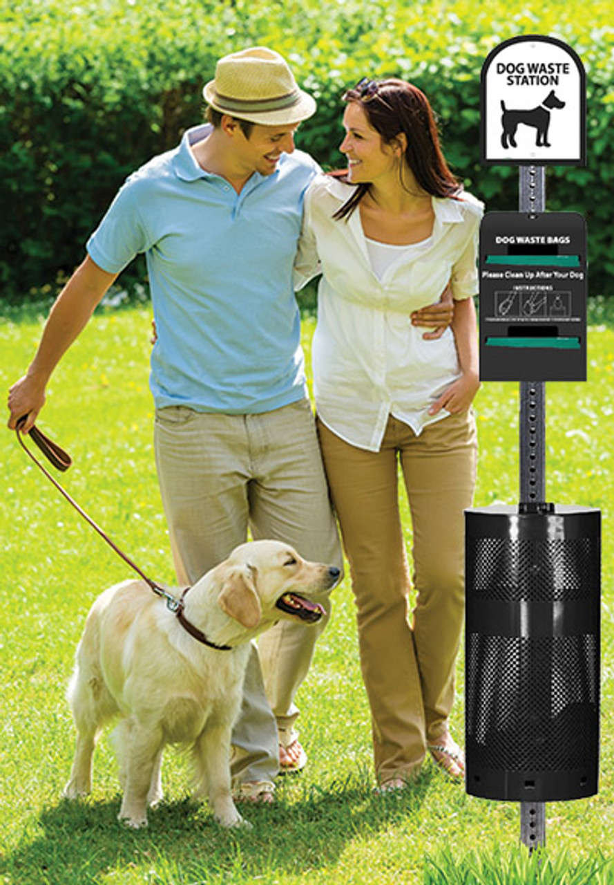 The Sentry® Dog Waste Station with Tie-Handle System