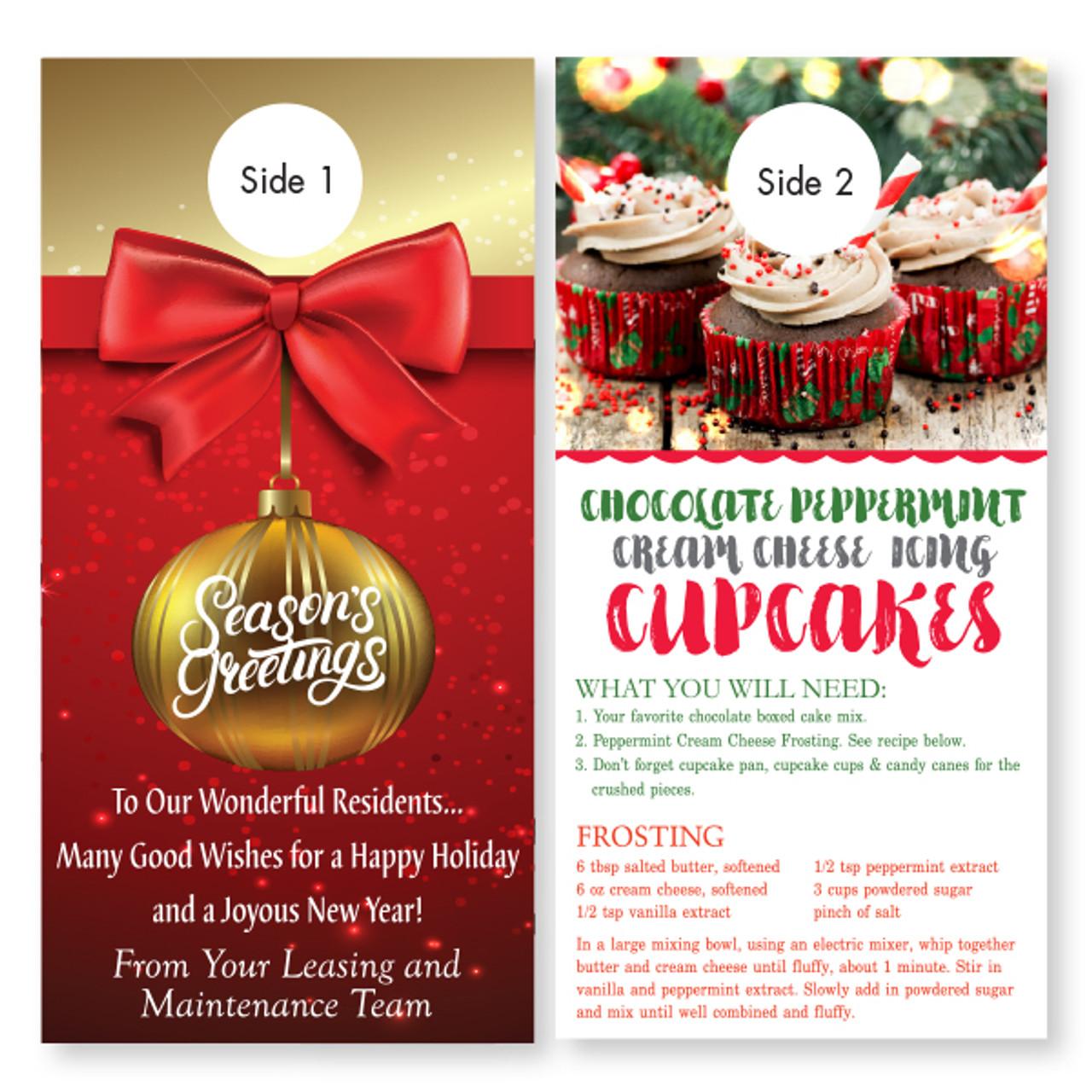 Holiday Recipe 2 Sided Door Hanger