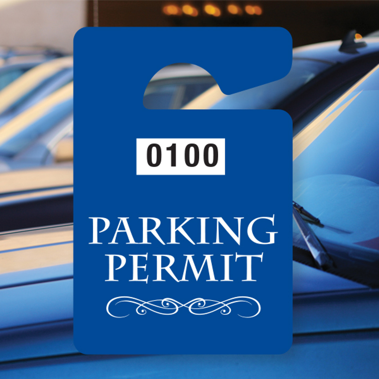 Parking Permit - Blue Numbered