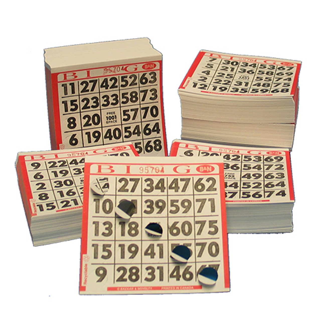 Reusable Paper Bingo Cards BINGO CARDS  (750/SET)