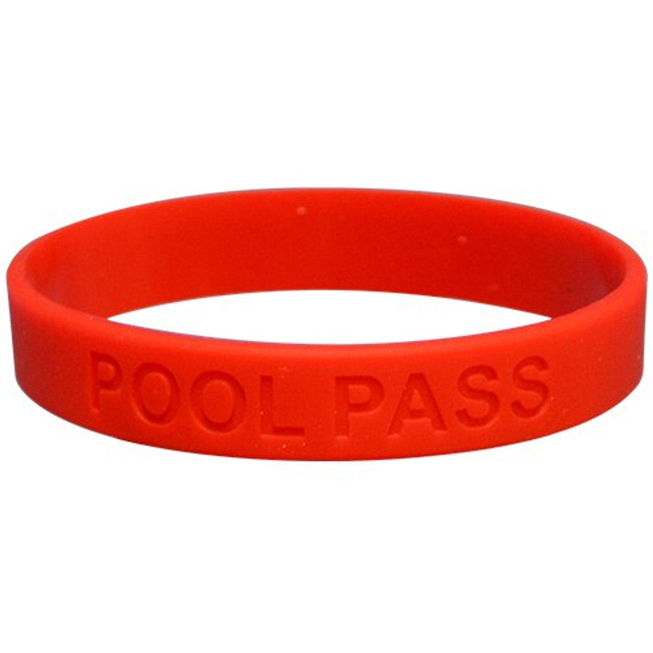 Adult Silicone Pool Pass (Red)