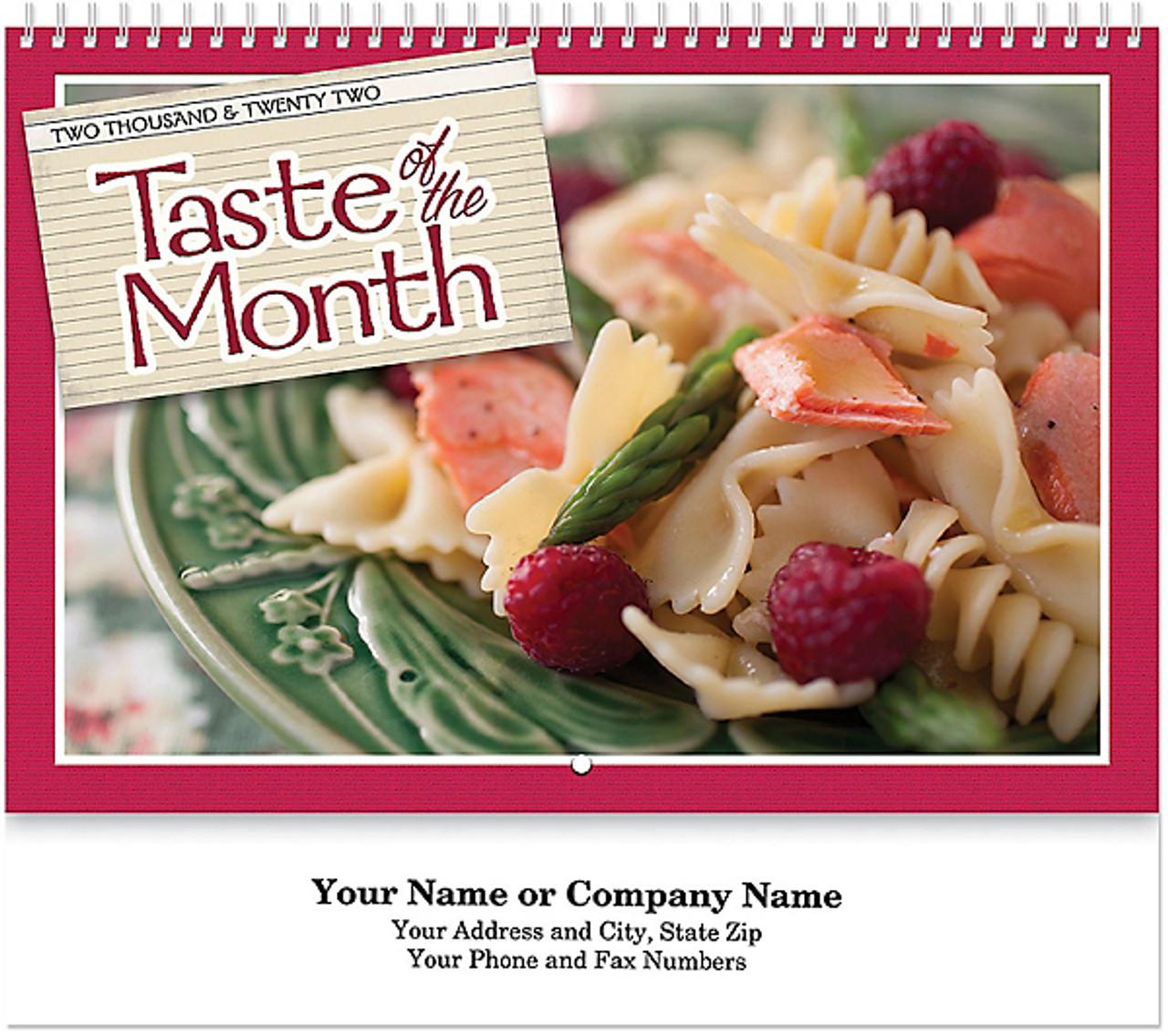 Taste of the Month Wall Calendar