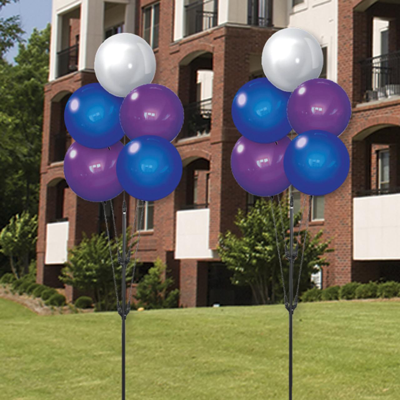 Helium Free Reusable Balloons Dura-Bonker Quintet - Sapphire Skies- ITEM#: DBQ28