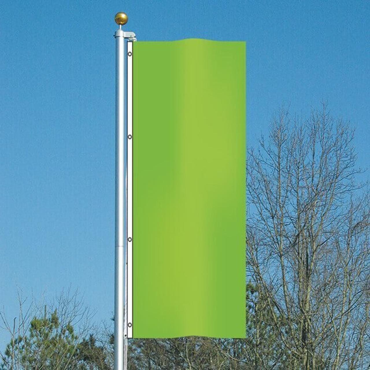 3' x 8' Cheerful Green Vertical Flag