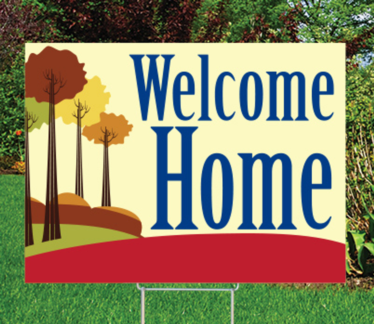 "Welcome Home-18""x24"" Sign- Tree-mendous Theme"