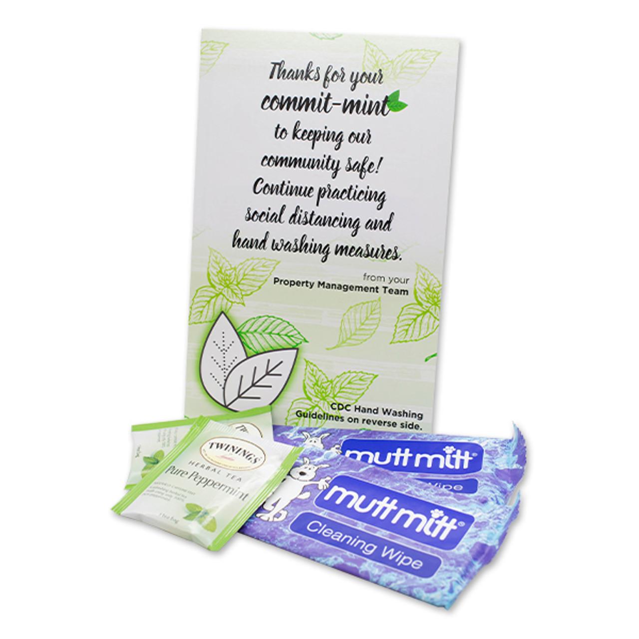 Commit-Mint Tea Covid Door Hanger Gift