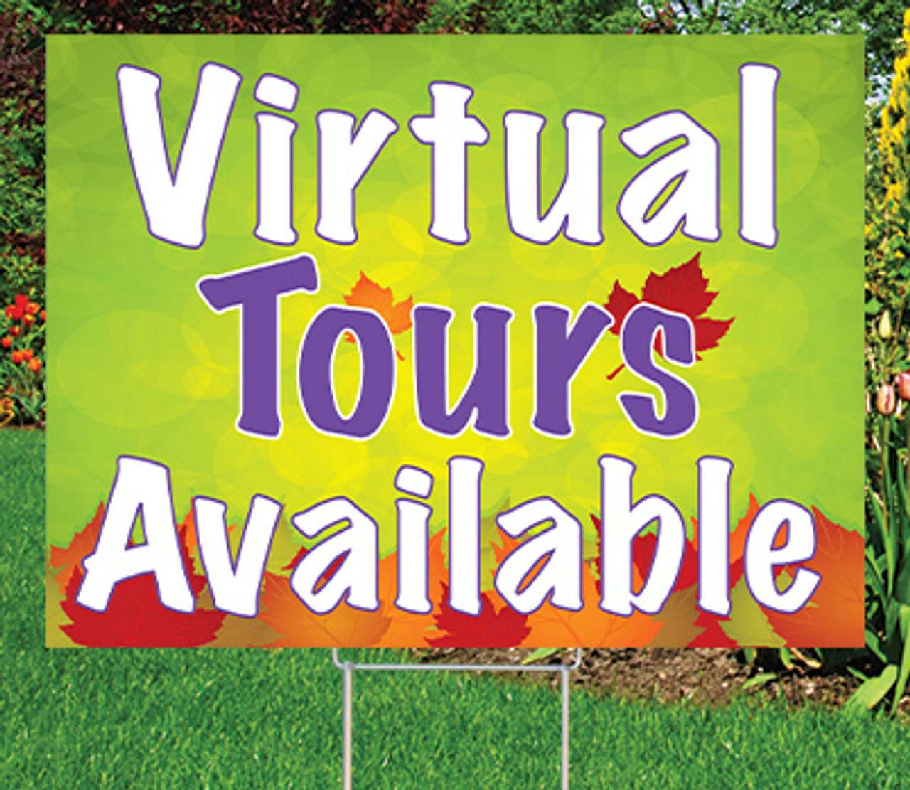 """Virtual Tours  -18""""x24"""" Sign-Autumn's Bright Colors"""
