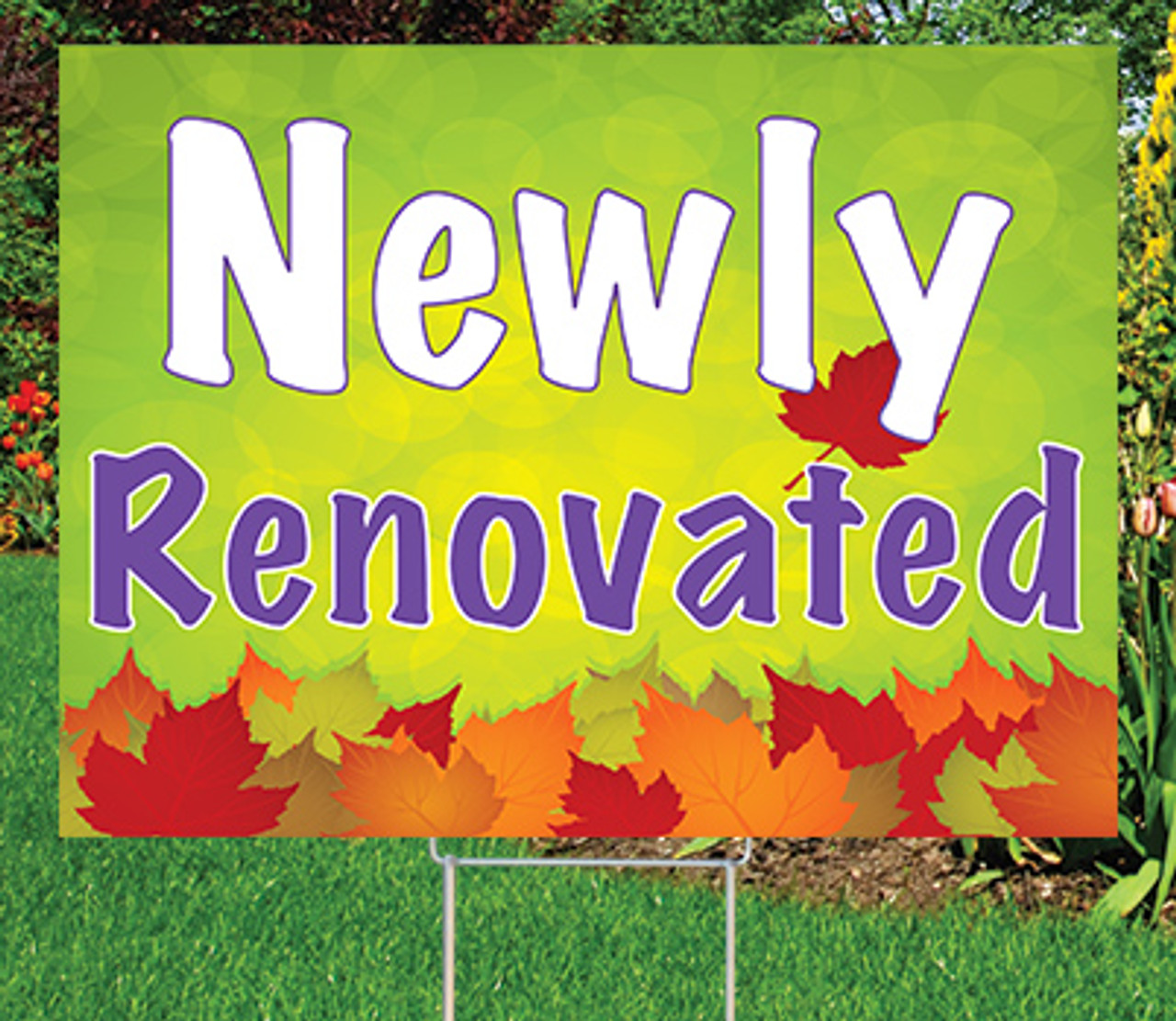 """Newly Renovated  -18""""x24"""" Sign-Autumn's Bright Colors"""