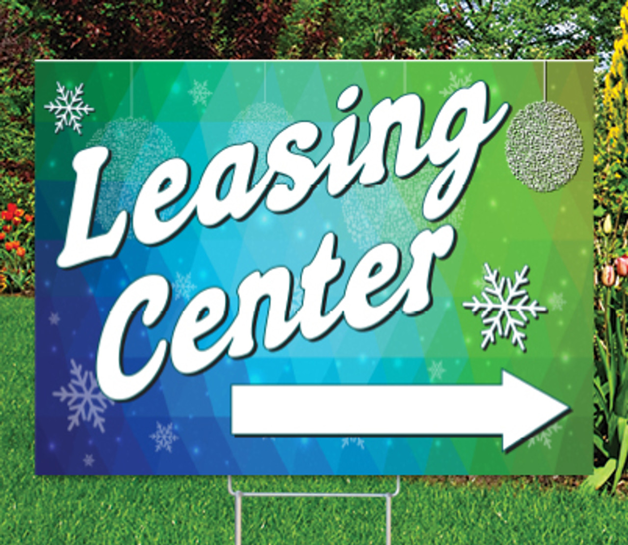 "Leasing Center -18""x24""Sign- Winter Coastal Waves Theme"
