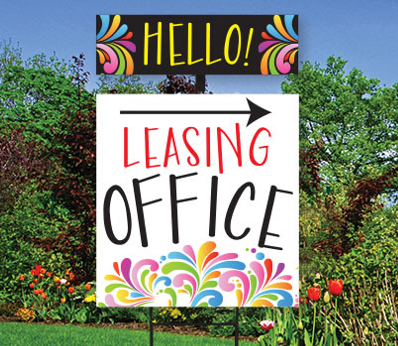 Splash Top Spin Sign: Leasing Office