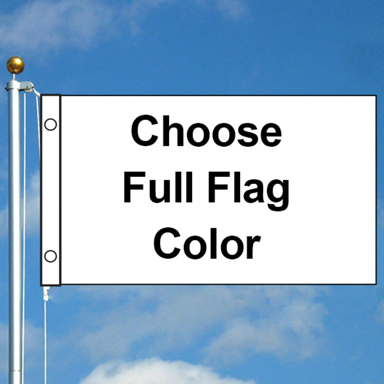 3' x 5' Diagonal Custom Solid Color Flag