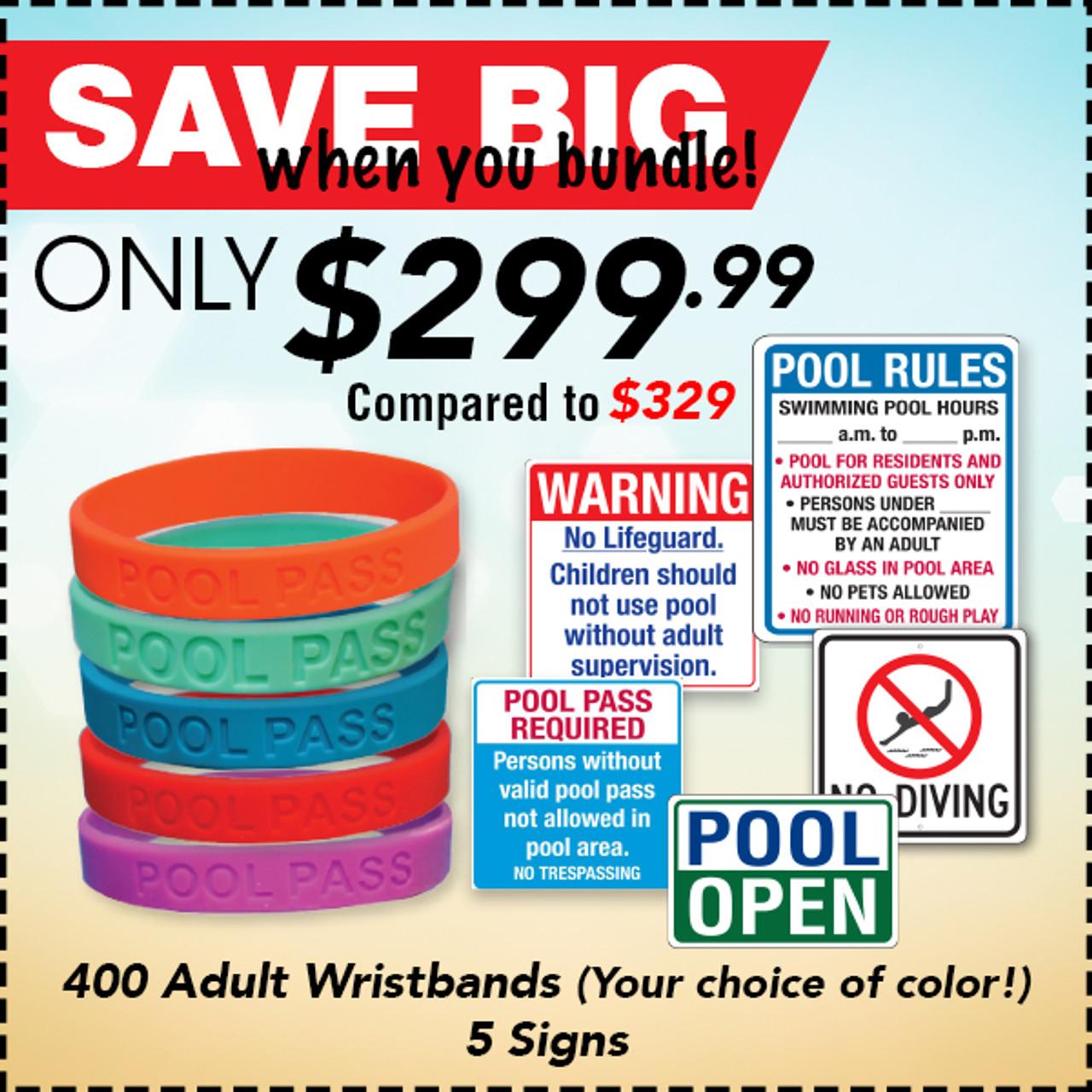 Pool Wristband & Signs Bundle