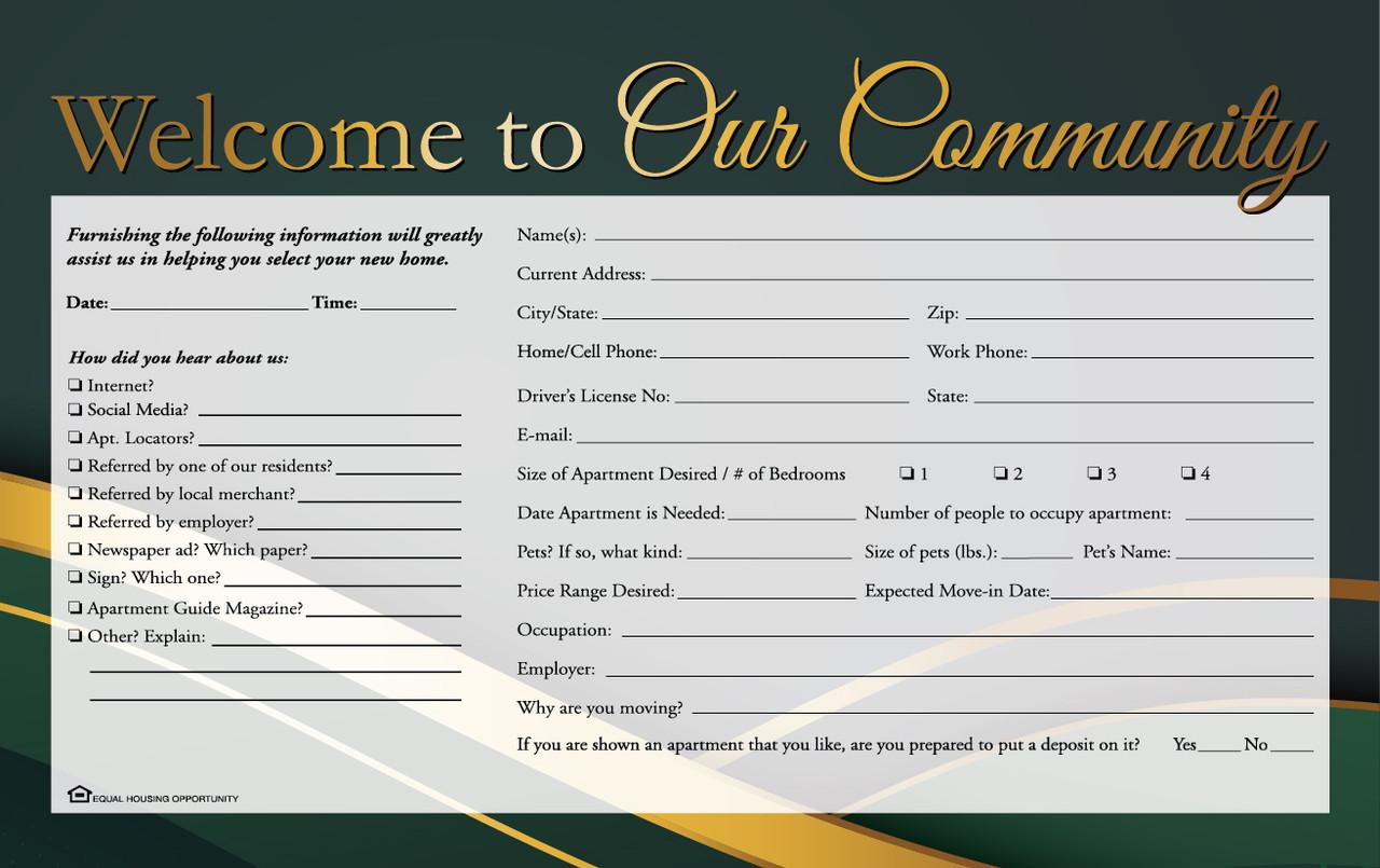 Guest Card - EvergreenDesign