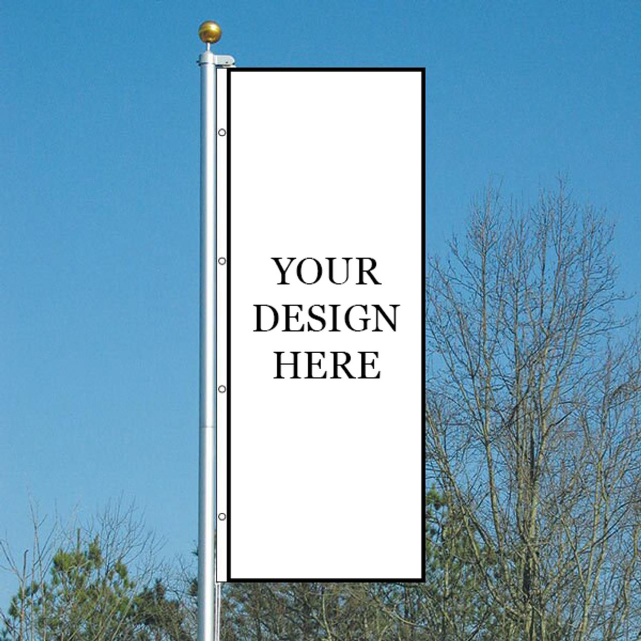 Custom 3' x 8' Double Sided Vertical Flag