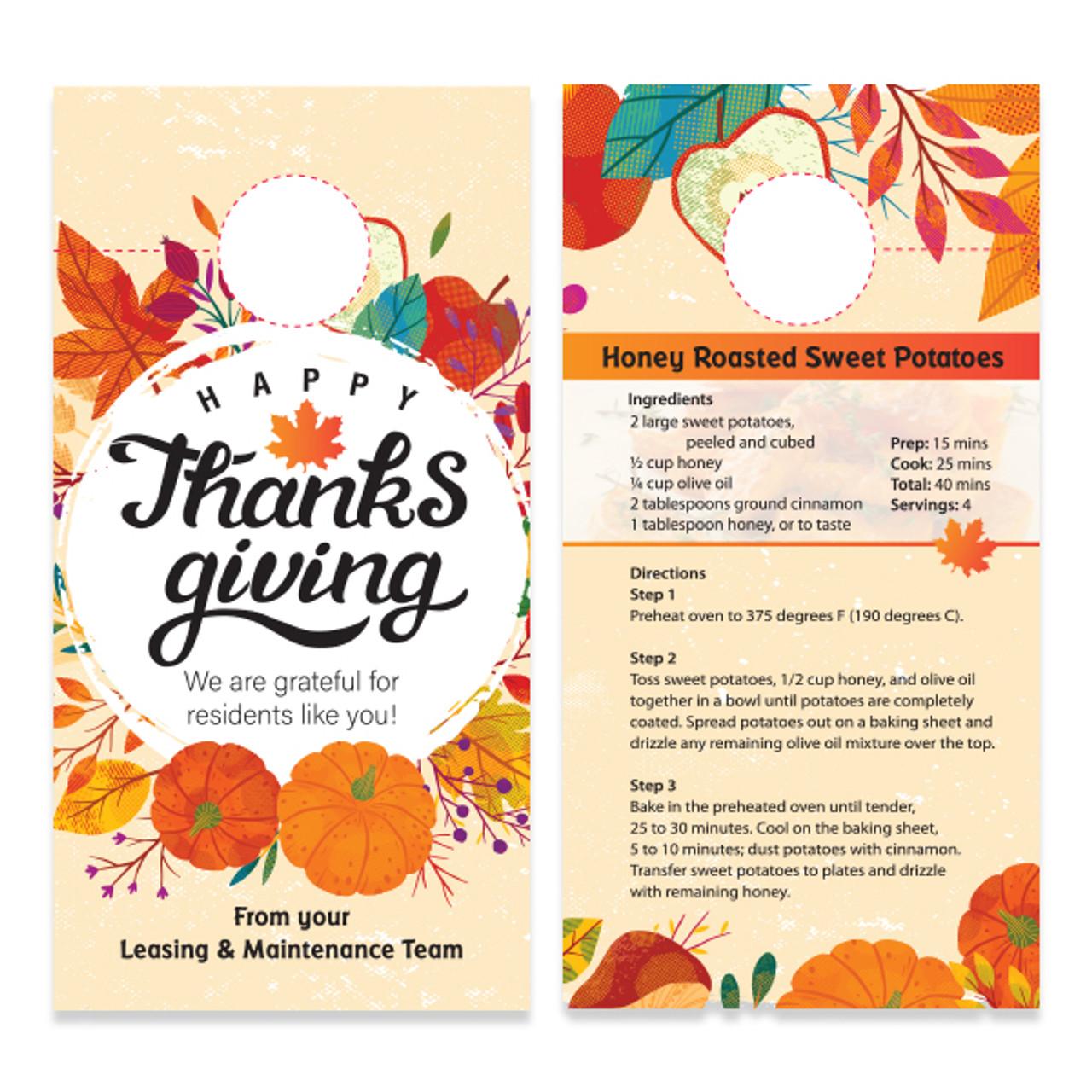 Happy Thanksgiving Doorhanger