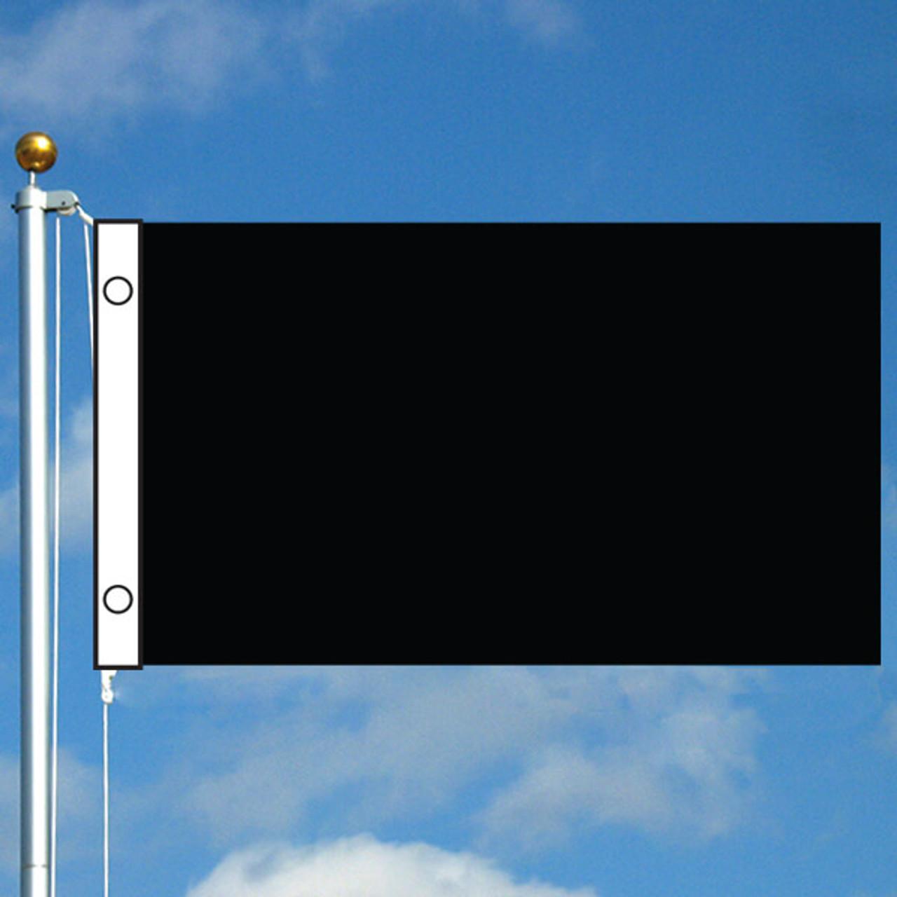 3' x 5' Solid Color Flag - Black