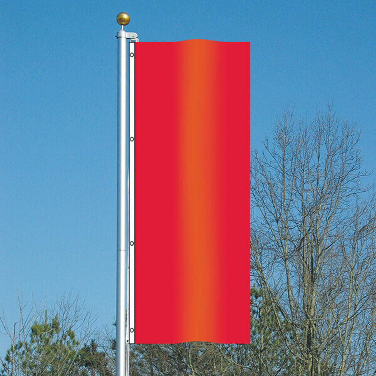 3' x 8' Vivacity Vertical Flag - Really Red