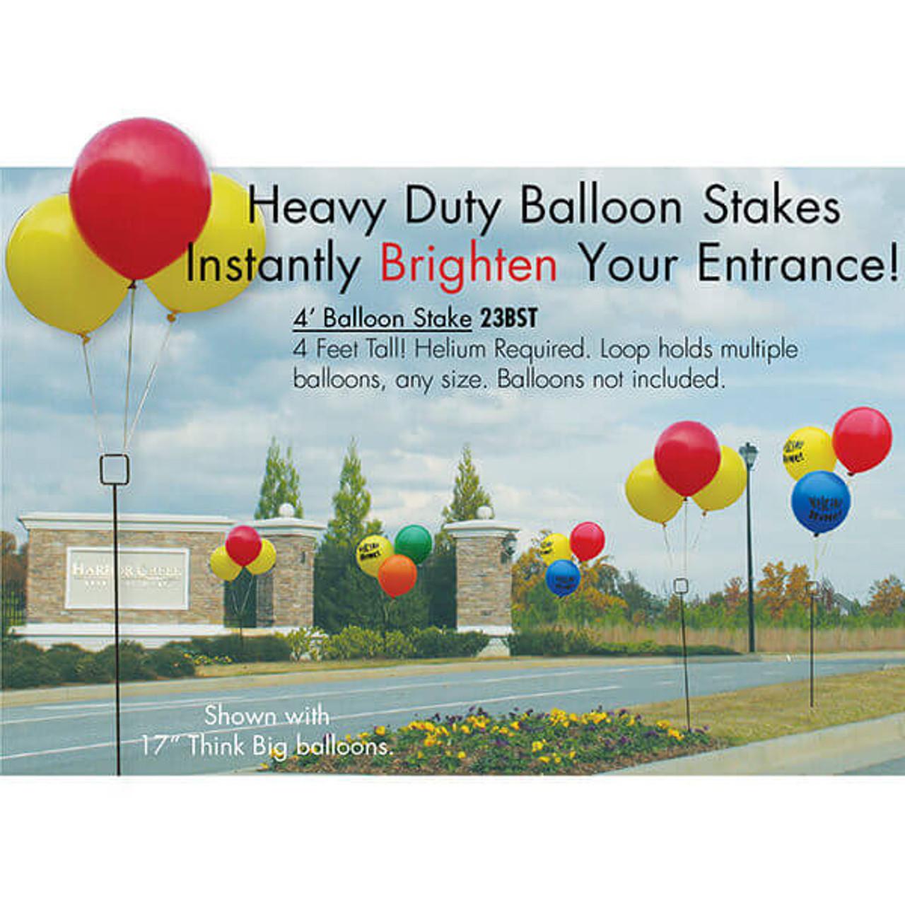 4' Balloon Stake (Set of 3)