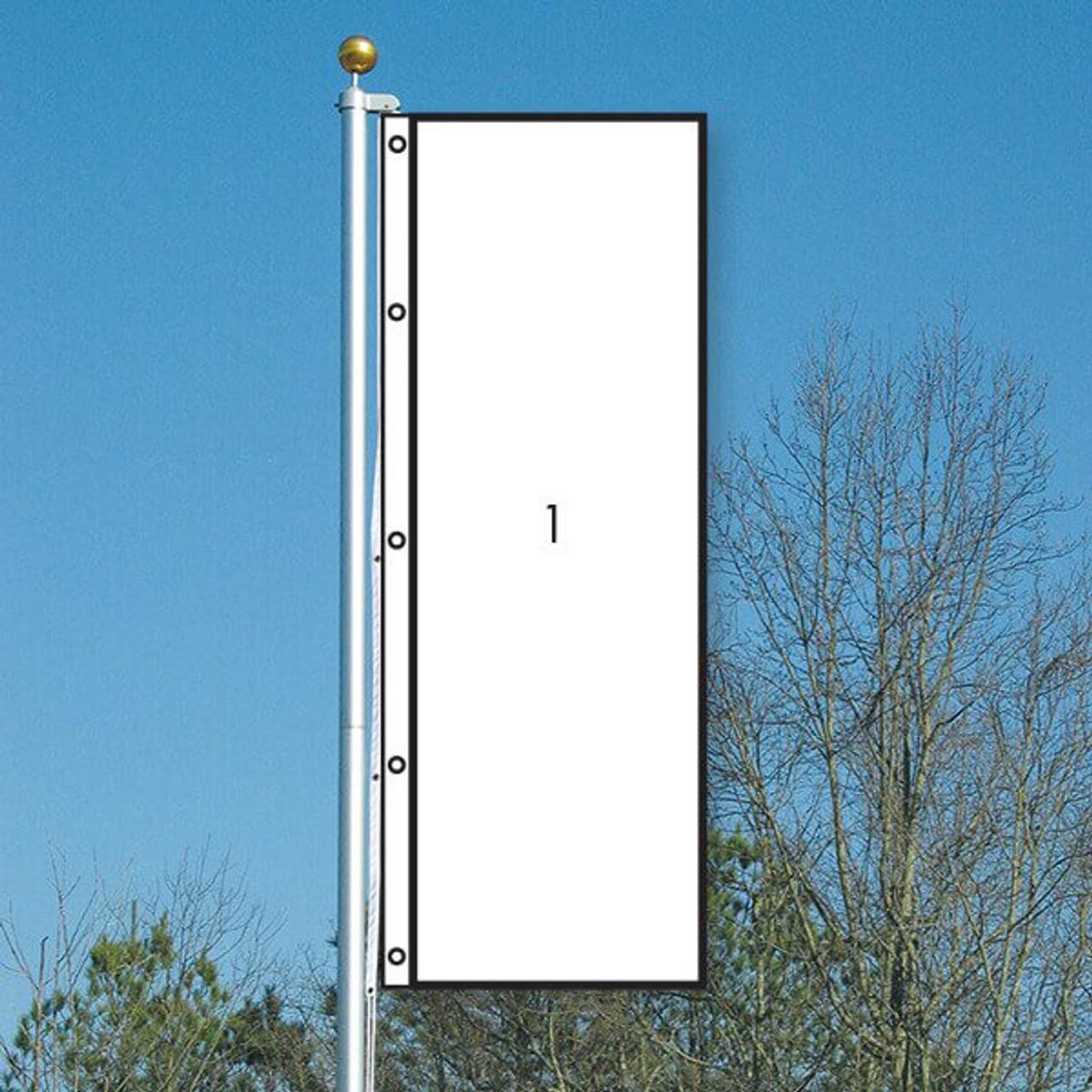3' x 8' CUSTOM Color Solid Vertical Flag