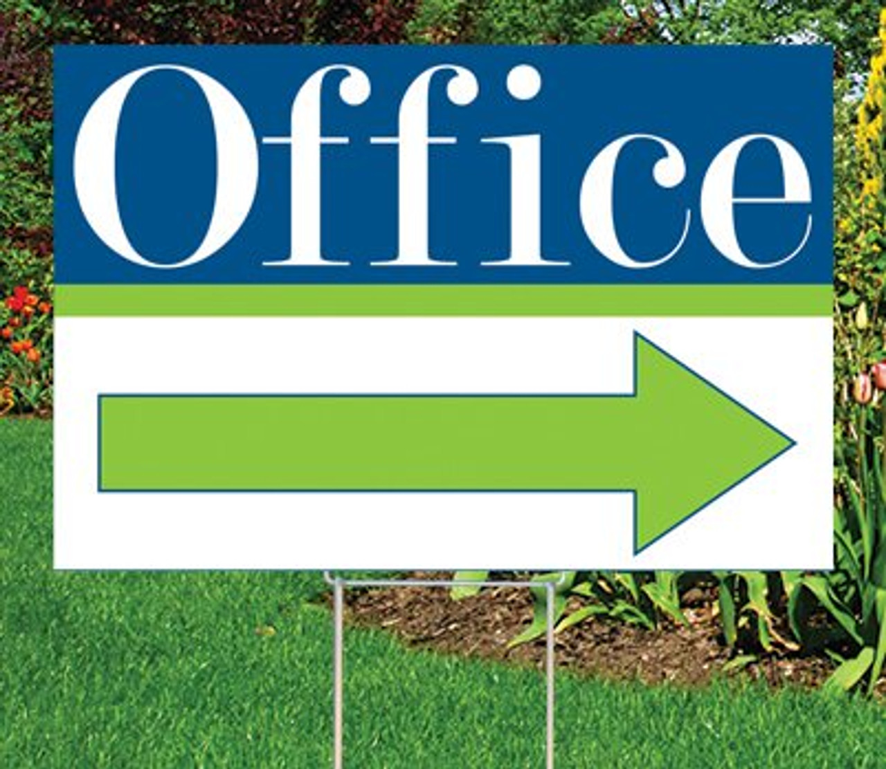 "Office- 12""x18"" Sign- Cheerful Theme"