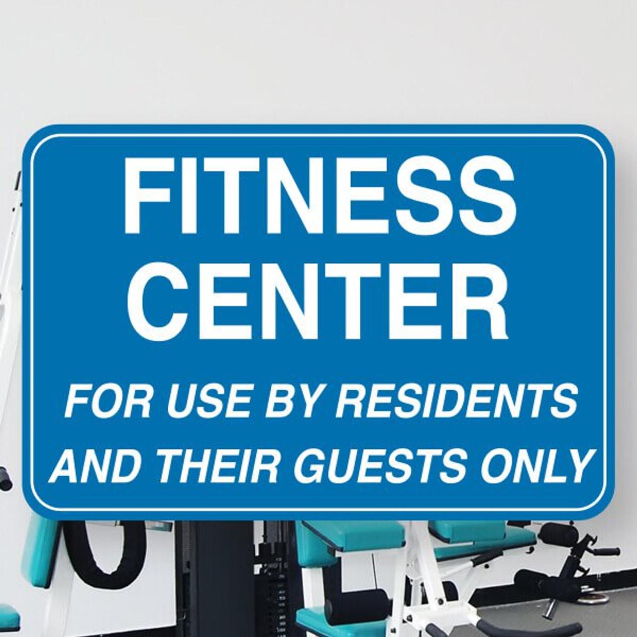 """Fitness Center 6"""" x 9"""" Styrene Sign"""